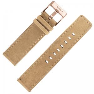 Infinum Firmitudo Horlogebandje Suède Beige Rosé Gesp 22mm