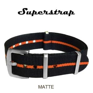 Superstrap MEGA NATO Nylon Strap Skunk Oranje - Matte