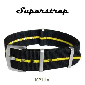 Superstrap MEGA NATO Nylon Strap Skunk Geel - Matte