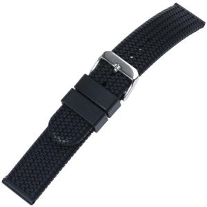 Racing Tyre Horlogeband Silicone Zwart