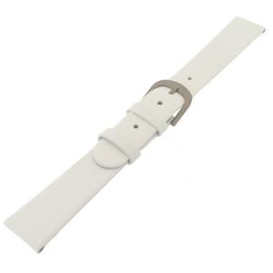Danish Design Witte Horlogeband Kalfsleer met Titanium Gesp