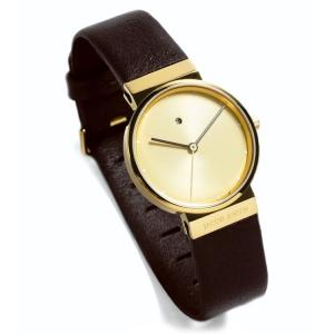 Jacob Jensen horlogeband 855, 857 donkerbruin leder 17mm