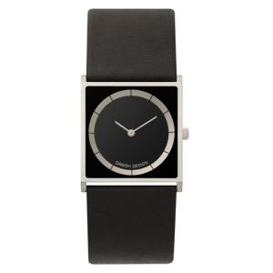 Horlogeband Danish Design IV13Q826 - zwart leer