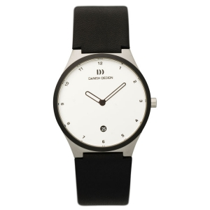 Horlogeband Danish Design IV12Q884, IV13Q884 - zwart leer