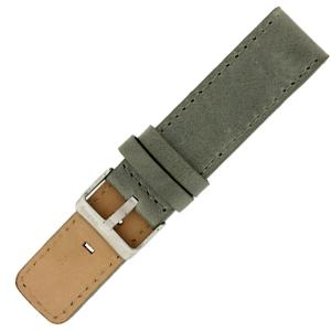 OOZOO Horlogebandje Grijs Leer