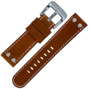 TW Steel Horlogebandje TW1, TW1R, TW3, TW5, TW21 - Lichtbruin 22mm