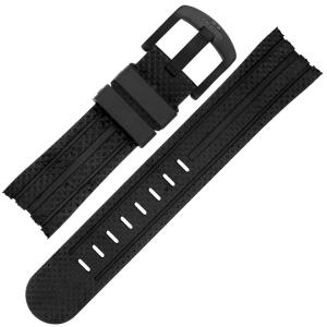 TW Steel Horlogebandje TW75, TW102, TW256, TW705 - Zwart Rubber 24mm