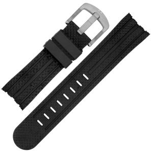TW Steel Horlogebandje TW73, TW84, TW85, TW701 - Zwart Rubber 24mm