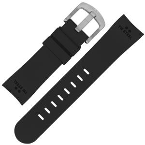 TW Steel Horlogebandje TW25, TW26, TWA25, TWA26, TW41 - Zwart Rubber 24mm
