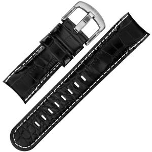 TW Steel Grandeur Horlogebandje TW51 - Zwart Kroko Kalfsleer 24mm