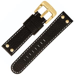 TW Steel Horlogebandje TW7, TW8, TW29, TW30 - Zwart 22mm
