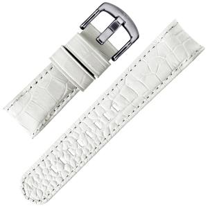 TW Steel Horlogebandje TW54 - Wit Kroko Kalfsleer 22mm