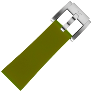Silicone Horlogeband Legergroen 22mm - Marc Coblen