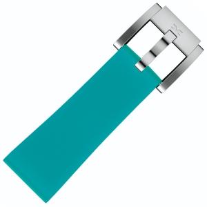 Silicone Horlogeband Turquoise 22mm - Marc Coblen