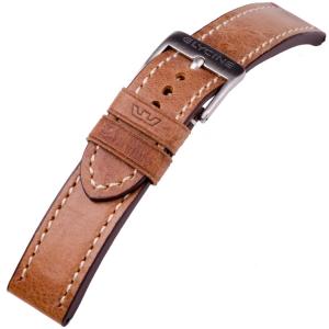 Glycine Horlogeband Vintage Zadelleer Lichtbruin - LB7BH