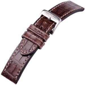 Glycine Horlogeband Kroko Kalfsleer Bruin - LBN7