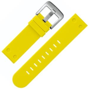 TW Steel Horlogebandje TW520 Geel Rubber 22mm
