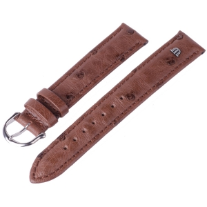Maurice Lacroix Horlogeband Struisvogel Tabak 15 en 17 mm