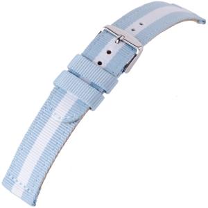 Nylon Horlogeband RAF Military Style Cloud Argentina Blue White 20mm - SS/YG/RG