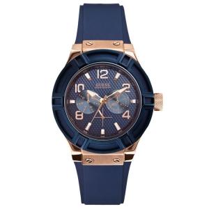 Guess Horlogebandje W0571L1 Rigor Blauw Rubber