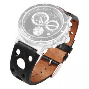 Rosendahl Tom Kristensen MPH Watch Horlogeband Zwart Leer