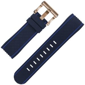 TW Steel Horlogebandje TS3 Blauw Rubber 24mm