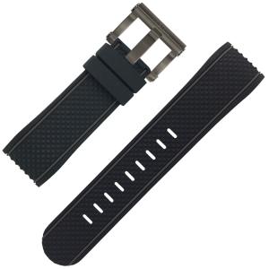 TW Steel Horlogebandje TS4 Zwart Rubber 24mm