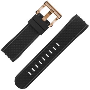 TW Steel Horlogebandje TS5 Zwart Rubber 24mm