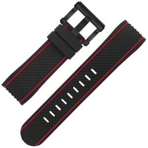 TW Steel Horlogebandje TS6 Zwart Rubber 24mm