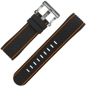 TW Steel Horlogebandje TS8 Coronel Dakar Limited Edition Zwart Rubber 24mm