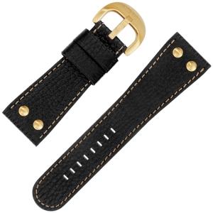 TW Steel Goliath Horlogebandje TW82, TW114 Zwart 30mm