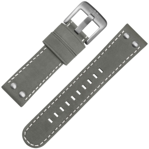 TW Steel Horlogebandje Grijs Suede Leer 22mm