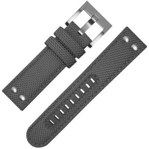 TW Steel Horlogebandje VS12, VS14 Grijs Canvas 24mm