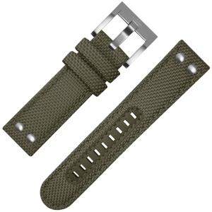 TW Steel Horlogebandje VS21, VS23 Groen Canvas 22mm