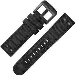 TW Steel Horlogebandje VS42, VS44 Zwart Canvas 24mm
