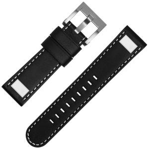 TW Steel Universeel Square Stud Horlogebandje - Zwart 22mm