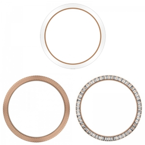 Marc Coblen / TW Steel 45mm SET 3X Bezel Rose Goud Staal Combi