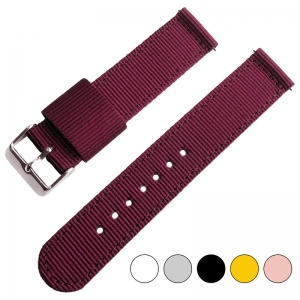 Burgundy Two Piece RAF NATO Nylon Strap