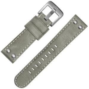 TW Steel Horlogebandje Grijs Leer 22mm