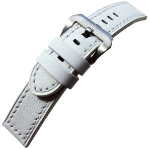 Vintage Horlogebandje Lenzers Leer Wit