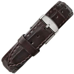 Daniel Wellington 17mm Dapper York Donkerbruin Leer Horlogebandje RVS Gesp