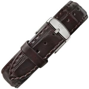 Daniel Wellington 19mm Dapper York Donkerbruin Leer Horlogebandje RVS Gesp