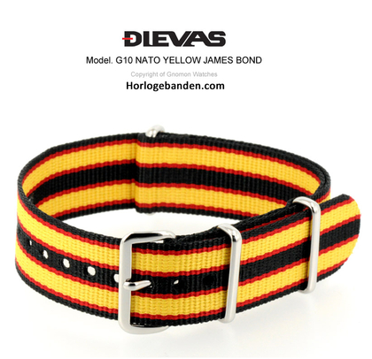 Yellow James Bond NATO G10 Military Nylon Strap - SS/PVD