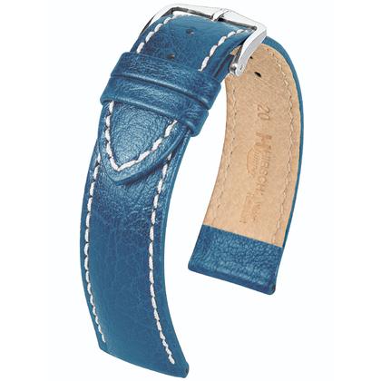 Hirsch Jumper Horlogebandje Buffelgrain Blauw