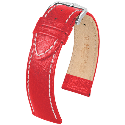 Hirsch Jumper Horlogebandje Buffelgrain Rood