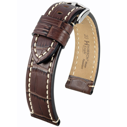 Hirsch Knight Horlogeband Kalfsleer Bruin
