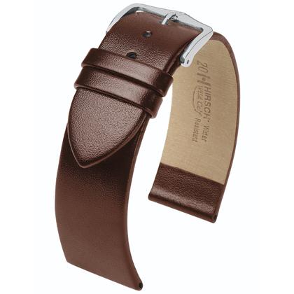 Hirsch Wild Calf Horlogebandje Bruin