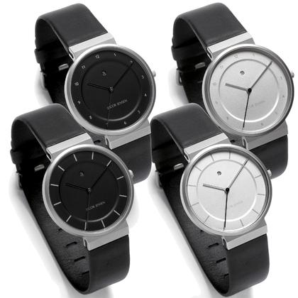 Jacob Jensen horlogeband 860, 861, 880, 881 zwart leer 19mm