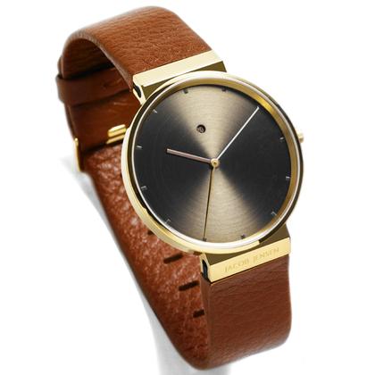 Jacob Jensen horlogeband 844 bruin leder 19mm