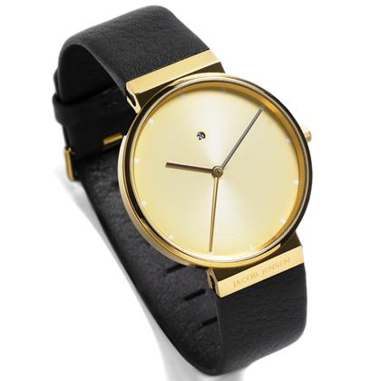 Jacob Jensen horlogeband 845, 847 donkerbruin leder 19mm